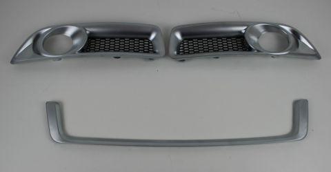 Spoilerlys/foglamp rammer og list i mattcrom V70 08-13  sett