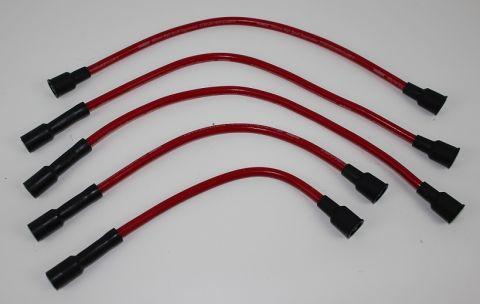 Pluggkabelsett B18-B20 62-76 røde silikon i topp kvalitet