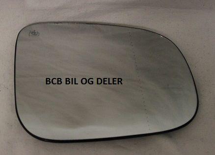 SPEILGLASS HØYRE U/VARME TIL VOLVO S60,S80,V70 SE INFO