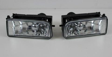 SPOILERLAMPER SETT H/V BMW E36 KLARGLASS CROM