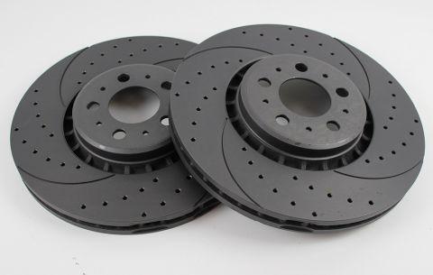 Bremseskive slissa/hull foran XC90 03-14 pris sett/par 336mm