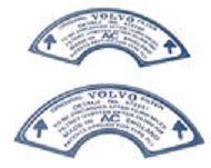 Dekal / klistremerker for luftfilter LF-2280/81 doble Su