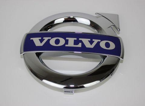 Emblem med ramme i grill til mange Volvo med 125mm. emblem