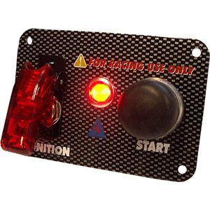 BRYTER RACING START SWITCH CARBONLOOK PANEL 95x65MM RED LIG