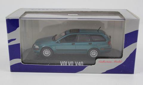 Modellbil Volvo V40 fasII 2000-2003 blå/grønn metalikk 1:43