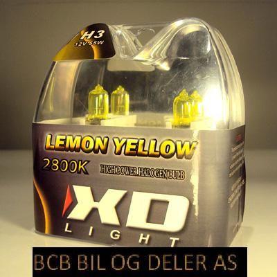 LYSPÆRE X-D LIGHT H3 LEMON YELLOW  2800K - 55W