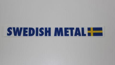 Sticker-klistremerke Swedish metal blå og gul 2x18 cm