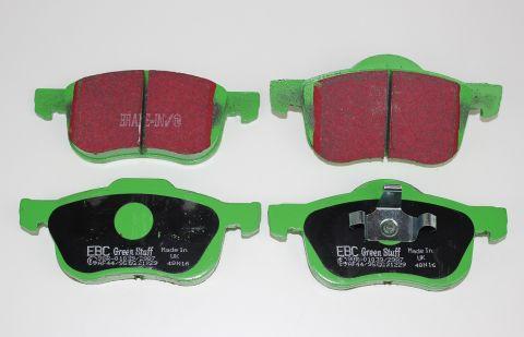 Bremsekloss sats foran S60,S80,V70,XC70  EBC Greenstuff