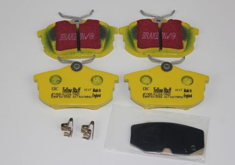 Bremsekloss sats bak S40 / V40 96-04 EBC Yellowstuff