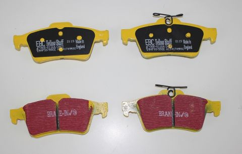 Bremsekloss sats bak S40II/V50,C30,C70II yellowstuff  racing