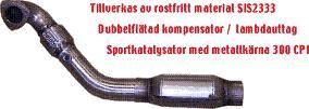 EKSOS SPORT JT FRONTRØR/DOWNPIPE 850 TURBO MED CAT. X1
