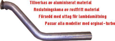 """EKSOS FRONTRØR/DOWNPIPE 3""""JT 700/900 TURBO"""