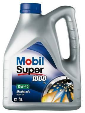 OLJE MOBIL SUPER 1000 15W40 MOTOROLJE  4 LITER KANNE