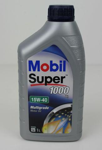 OLJE MOBIL SUPER 1000 15W40 MOTOROLJE  1 LITER