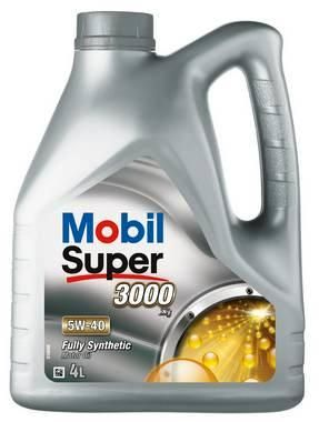 OLJE MOBIL SUPER 3000 5W-40 SYNTETISK  4 LITER  !!TILBUD!!