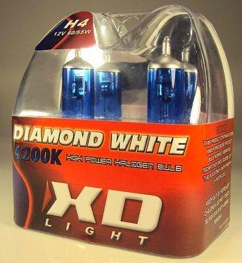 LYSPÆRE X-D LIGHT H4 DIAMOND WHITE 4200K - 60/55W