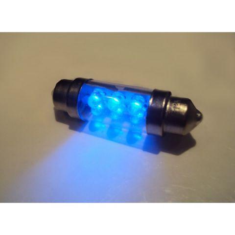 LYSPÆRER X-D LIGHT DOMELIGHT 38MM 6-LED BLUE - PAIR