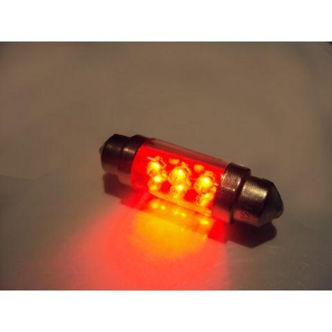 LYSPÆRE X-D LIGHT DOMELIGHT 39MM 6-LED RED - PAIR