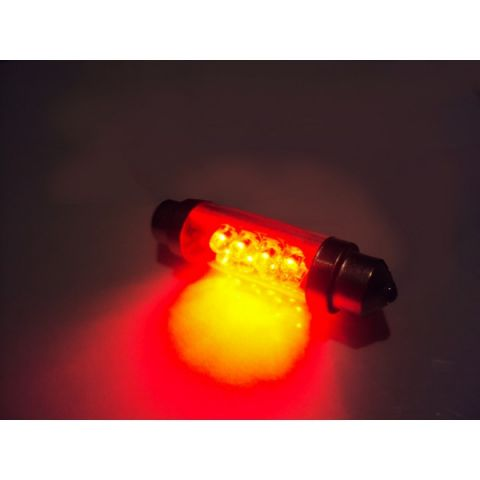 LYSPÆRE X-D LIGHT DOMELIGHT 44MM 8-LED RED - PAIR