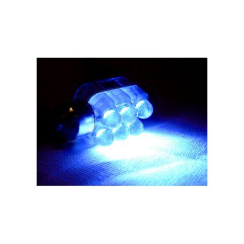 LYSPÆRE X-D LIGHT 6LED DOMELIGHT, Ø10MMX36MM BLUE
