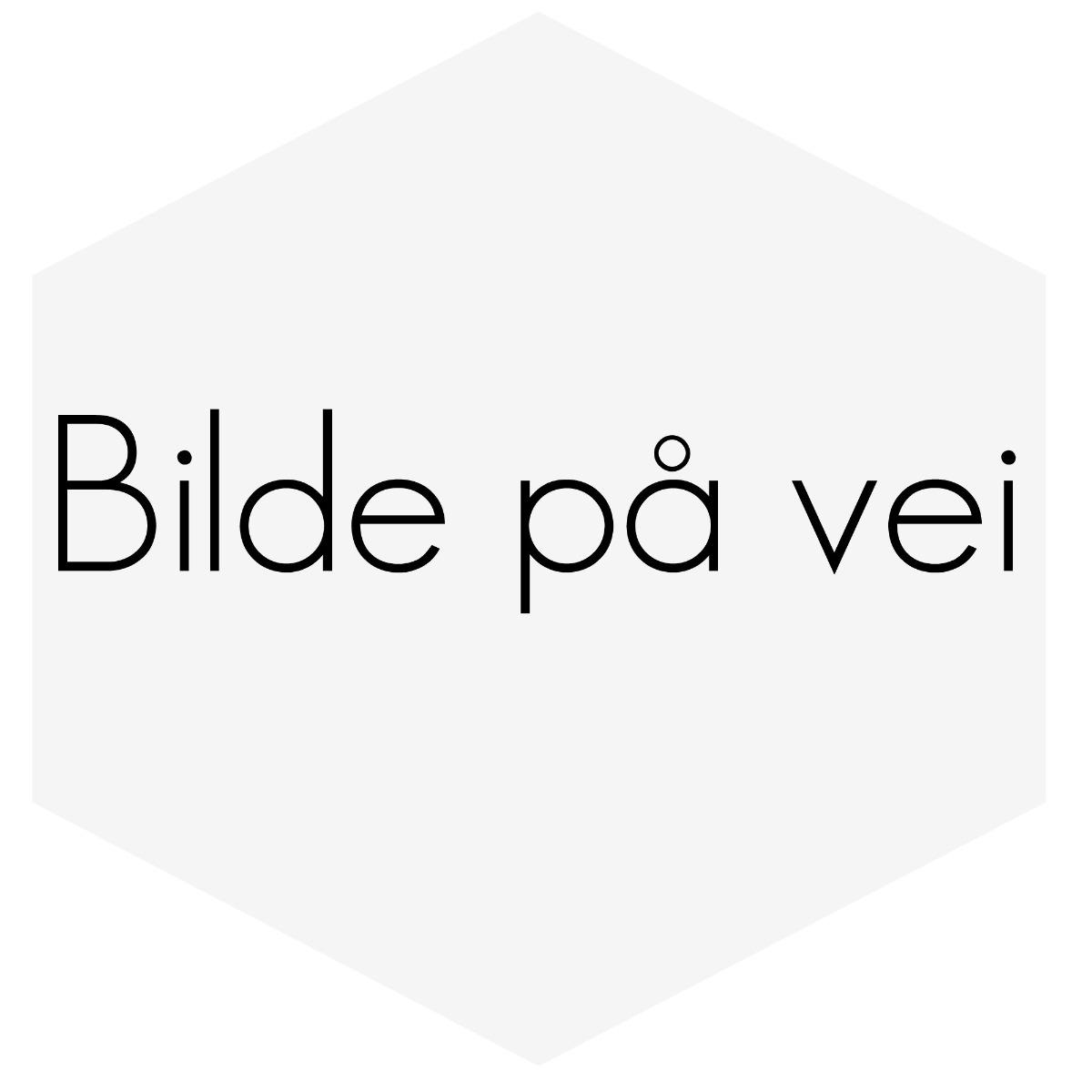 """Eksos enderør 2,5""""inn og 2X3""""ut med bøy, 29cm lang"""